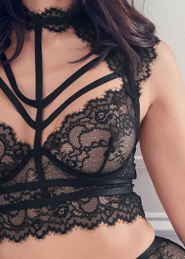 Alternate View Lace Bra Skirt Set