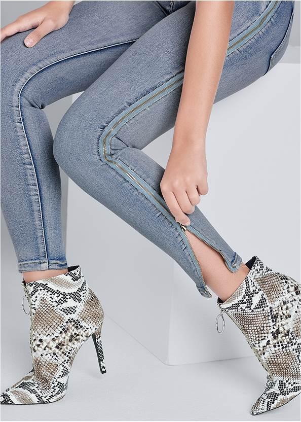 Alternate View Side Zipper Jeans