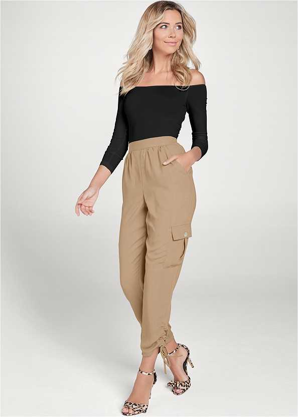 Lightweight Cargo Pants,Off The Shoulder Top,Basic Cami Two Pack,High Heel Strappy Sandals