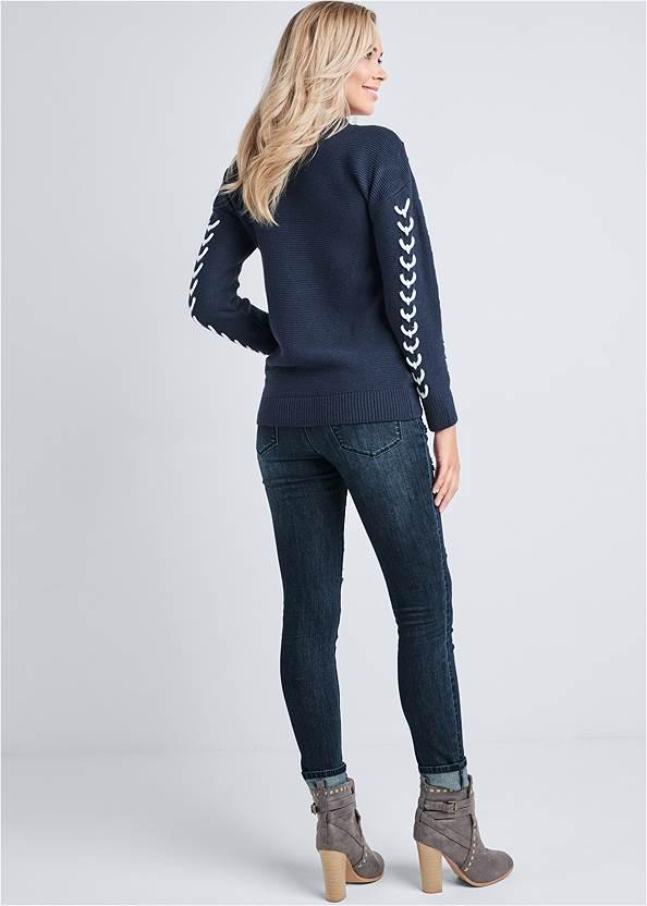 Back View Stitch Detail Sweater