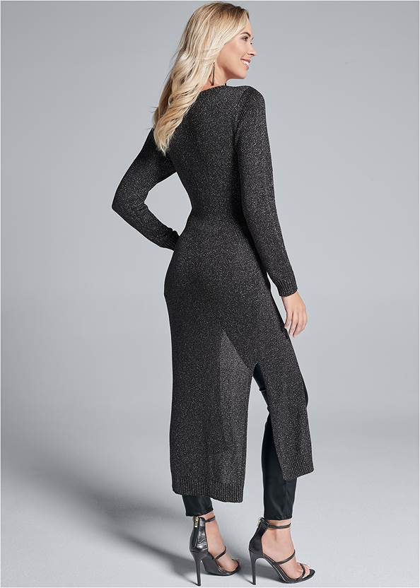 Alternate View Cross Front Maxi Sweater