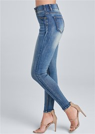 Alternate View Elastic Waistband Jeans
