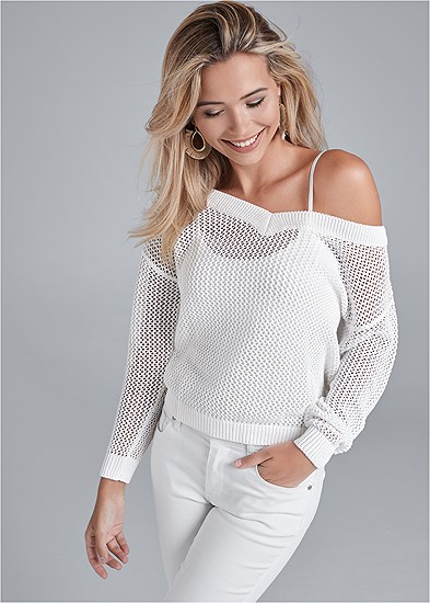 Relaxed Open Knit Sweater