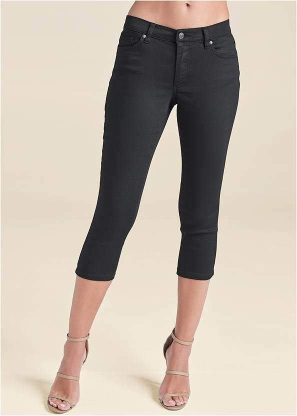 Detail view Color Capri Jeans