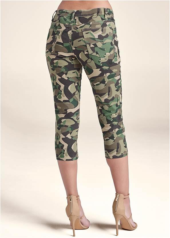 Back View Color Capri Jeans