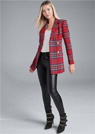 Full front view Plaid Blazer