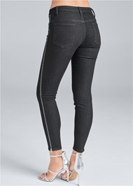 Back View Side Zipper Jeans