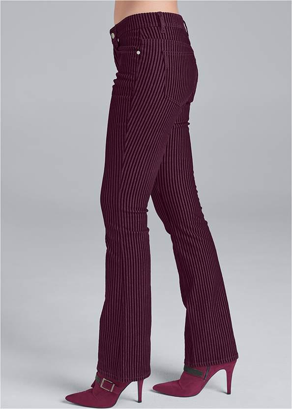 Back View Velvet Stripe Pants