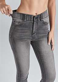 Detail back view Elastic Waistband Jeans
