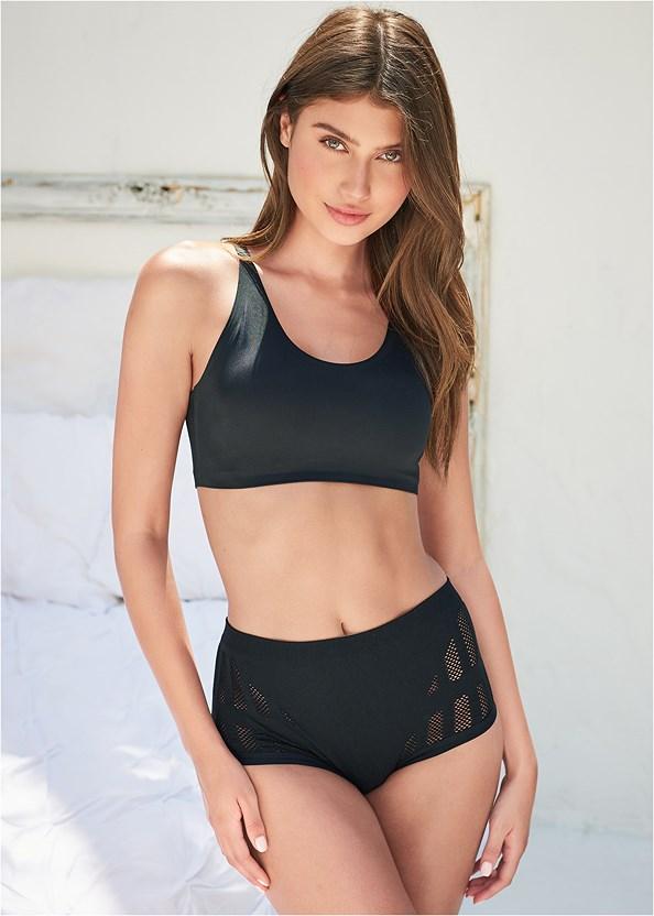 Stretch Mesh Bikini,Seamless Bralette