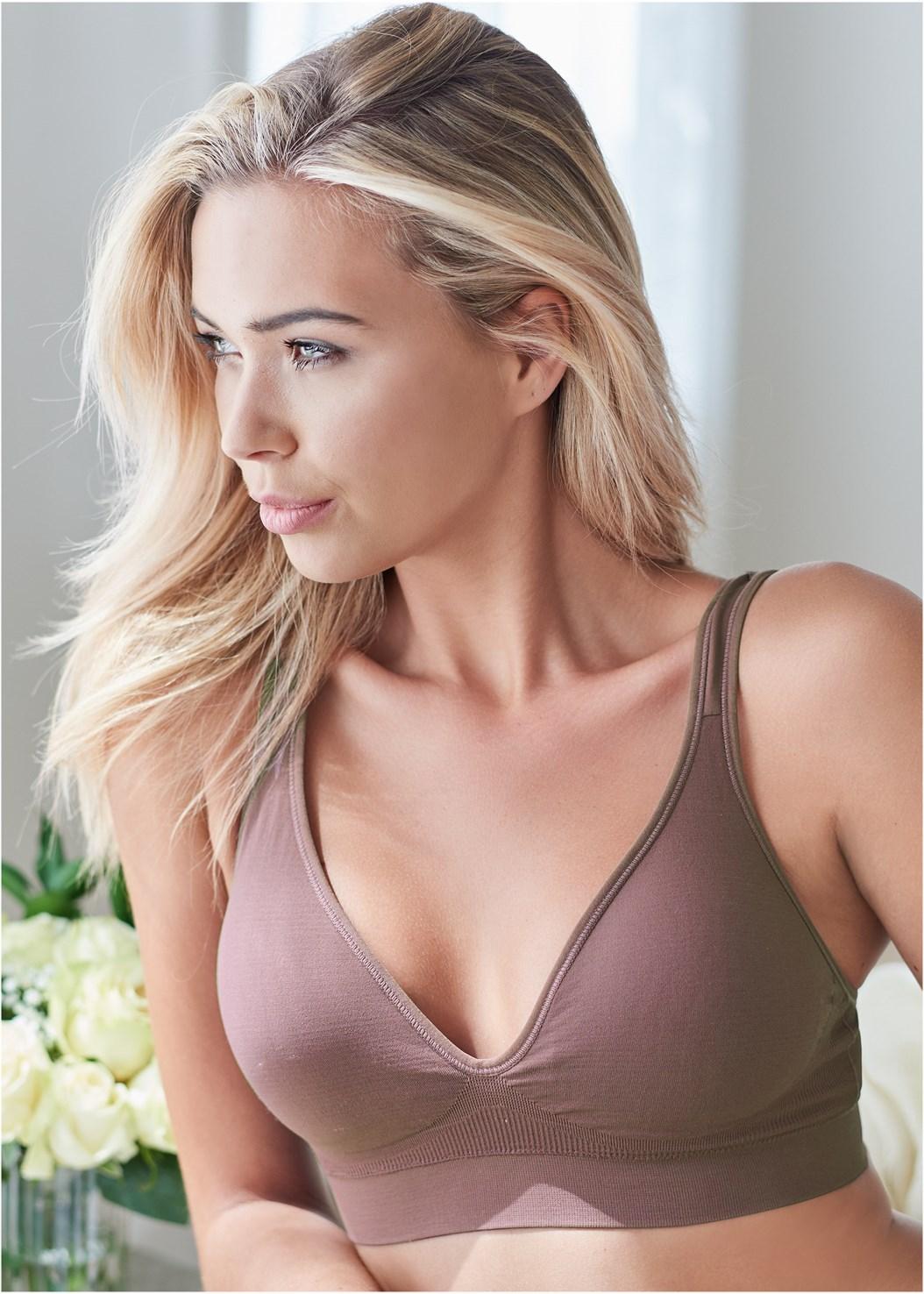Seamless Lace Comfort Bra,Stretch Hipster 5Pk