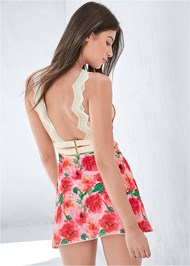 Cropped back view Floral Print Chemise