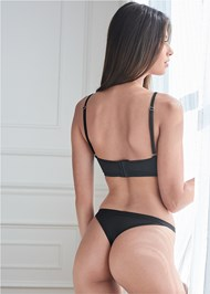 Cropped back view Strappy Bra And Thong Set