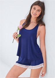 Cropped front view Flyaway Tank And Short Set