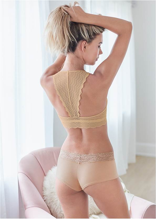 Cropped back view Lace Bralette