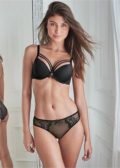 Strappy Back Mesh Bikini
