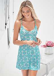 Cropped front view T-Back Sleep Dress