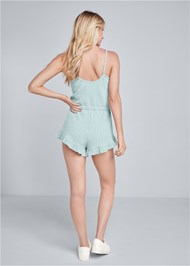 Back View Cozy Rib Knit Lounge Romper