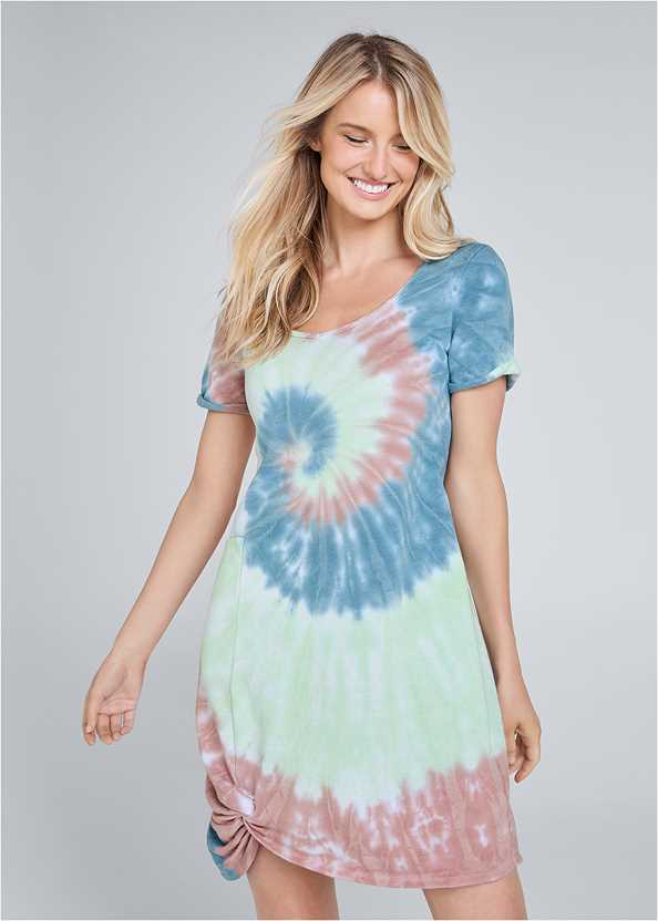 Tie Dye Knotted Lounge Dress