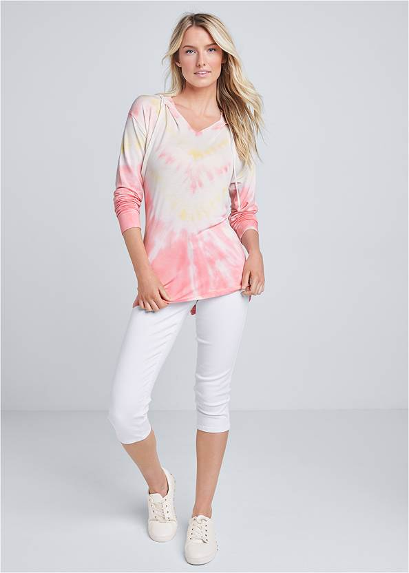 Full front view Lounge Tie Dye Pullover