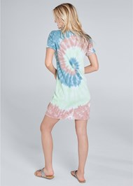 Full back view Tie Dye Knotted Lounge Dress