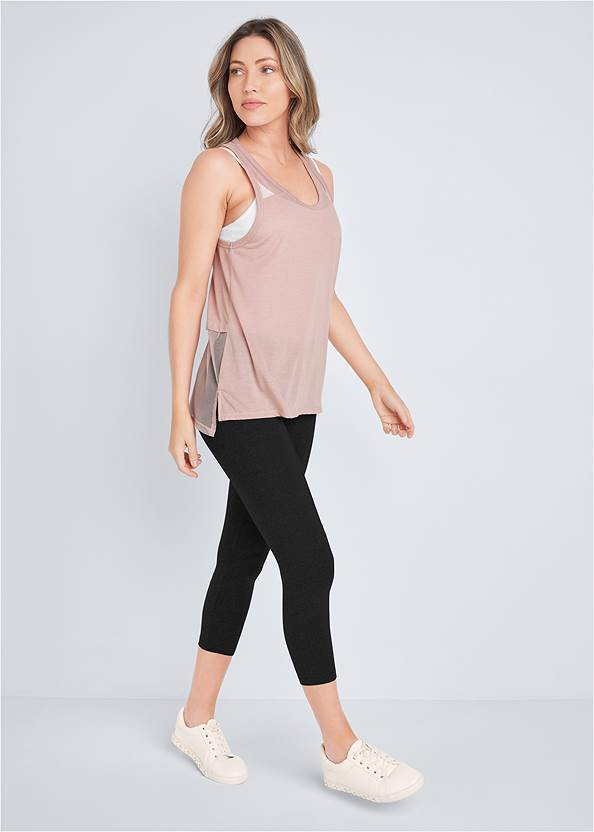 Full front view Mesh Active Tank Top