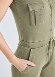 Detail  view Mineral Wash Utility Jumpsuit