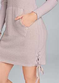 Detail  view Brushed Waffle Knit Dress