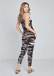 Full back view Easy Tie Dye Lounge Jumpsuit