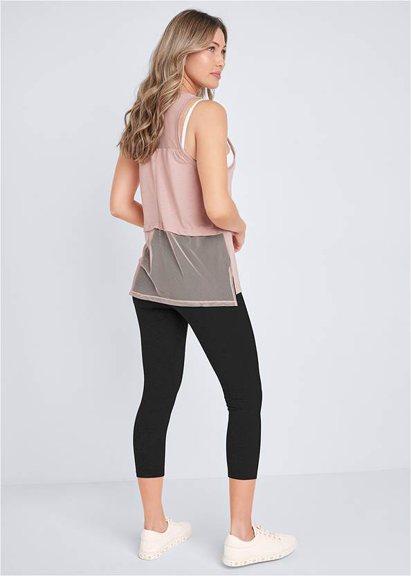 Full back view Mesh Active Tank Top