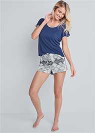 Full front view Sleep Tee And Short Set