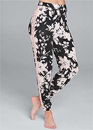 Waist down front view Lace Trim Sleep Pants