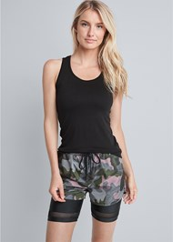 Cropped front view Camo Active Short Set
