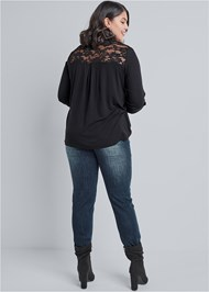 Back View Lace Detail Henley