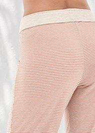 Detail back view Striped Sleep Jogger
