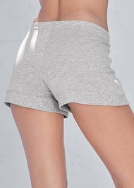 Alternate View Ribbed Trim Sleep Shorts