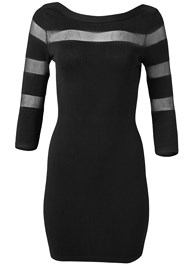 Alternate View Mesh Detail Sweater Dress