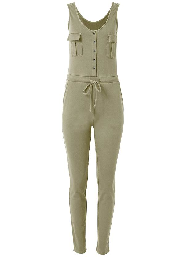 Ghost with background  view Mineral Wash Utility Jumpsuit