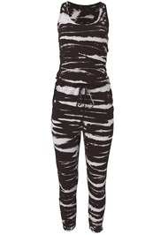 Ghost with background  view Easy Tie Dye Lounge Jumpsuit