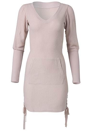 Plus Size Brushed Waffle Knit Dress