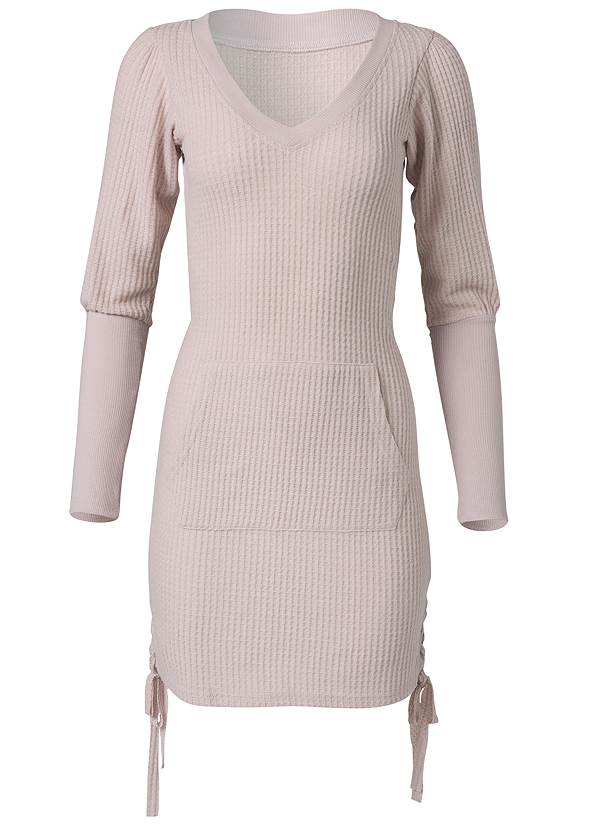 Ghost with background  view Brushed Waffle Knit Dress