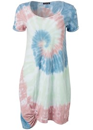 Ghost with background  view Tie Dye Knotted Lounge Dress