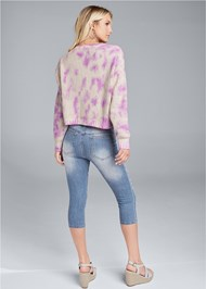 Full back view Oversized Tie Dye Sweater