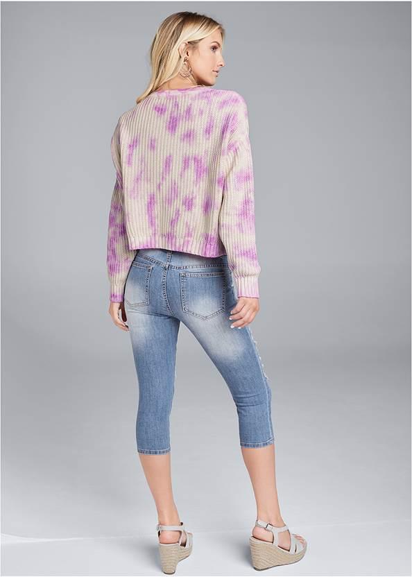 Full back view Oversized Tie Dye Sweater
