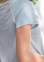 Detail back view Stripe Sleep Shirt