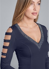 Alternate View Embellished V-Neck Top