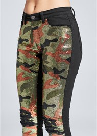 Alternate View Camo Sequin Jeans