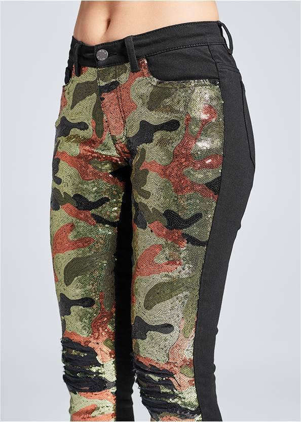 Alternate View Camo Sequin Jeans
