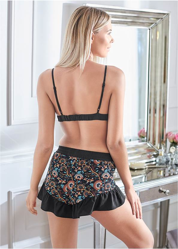 Cropped back view Triangle Bralette And Short