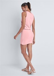 Alternate View V-Neck Side Wrap Mini Dress